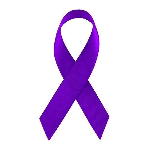 LaRibbons Purple Satin Awareness Ribbons - Bag of 200 Fabric Ribbons