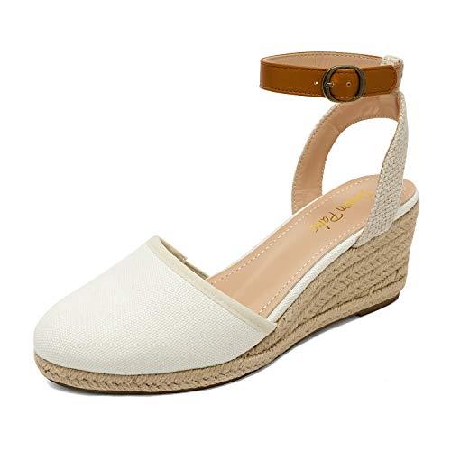 DREAM PAIRS Women's Ankle Strap Espadrilles Wedge Sandals