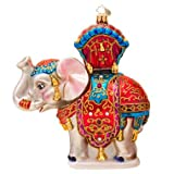 Christopher Radko Bombay Dreams Elephant Glass Christmas Ornament 2014