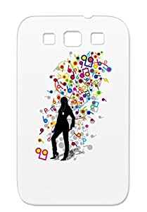 Humming Tunes Music Song Woman Girl Pop Sound Hamming Humming Player Mp3 Music Stroll Silver For Sumsang Galaxy S3 TPU Case