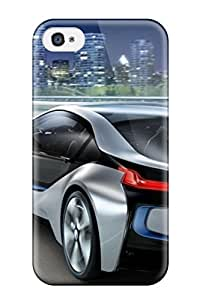 Fashion Tpu Case For Iphone 4/4s- Bmw I8 Concept Car Car S Defender Case Cover