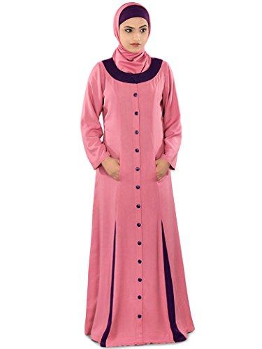 MyBatua rosa muslim tragen 241 Abaya Frauen formale Kleid amp; AY casual ZOZdqxr5w