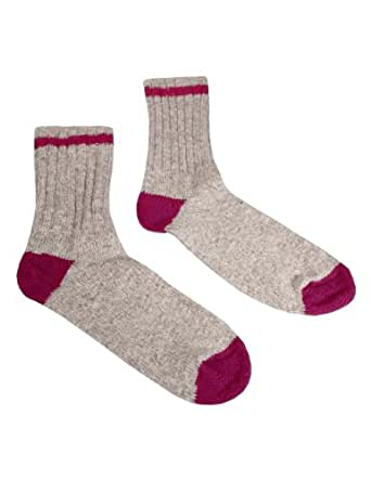 Duray Women's Hiking Socks Style 1540-89 Natural Grey, Rose - Size 9 - 11