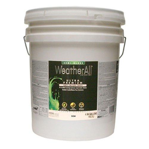 True Value SGWP-5G Weatherall Pastel Base Semi-Gloss Exterior House Trim Paint 5-Gallon