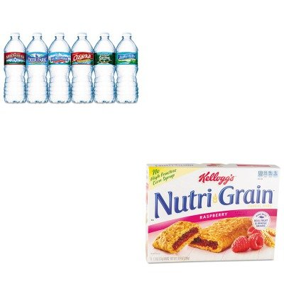 kitkeb35845nle101243-value-kit-kelloggs-nutri-grain-cereal-bars-keb35845-and-nestle-bottled-spring-w