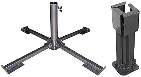 Sonnenschirmhalter Schirmständer Bodenhülse Sonnenschirmfuß Ständer Kunststoff