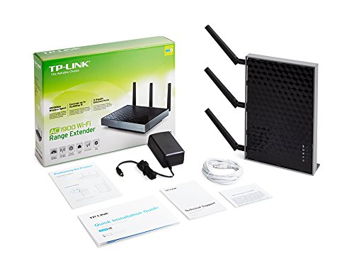 Tp link ac1900 desktop dual band wi fi range extender w 5 - Wireless extender with ethernet ports ...