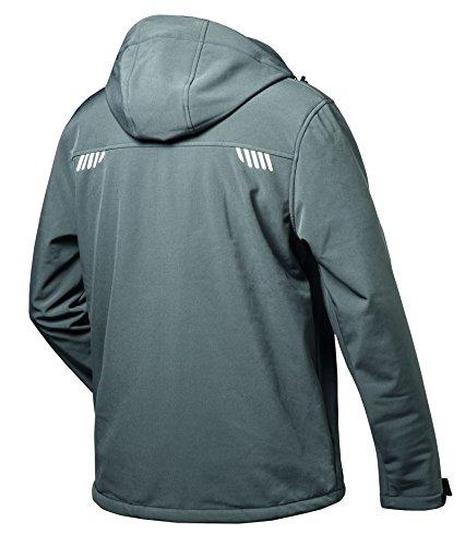 Elysee - Softshell Jacken APOLLO grau/ schwarz, elastisch, Kapuze, mit Fell (XL)