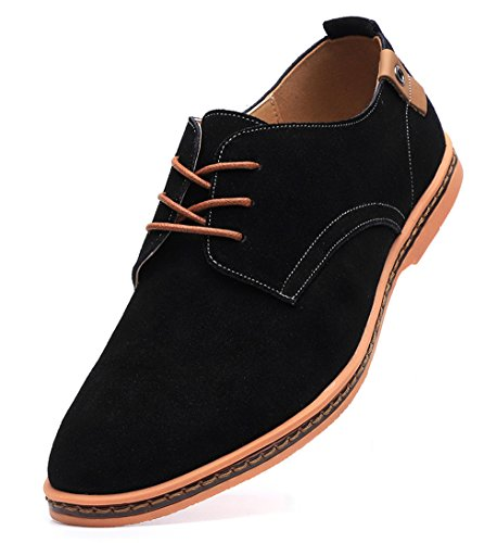 (Dadawen Men's Black Leather Oxford Shoe - 7 D(M) US)