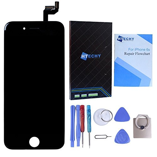 Black for iPhone 6S 4.7inch LCD Screen Replacement Kit Digitizer Touch Screen with Frame Display Assembly with 3D Touch & Repair Tools