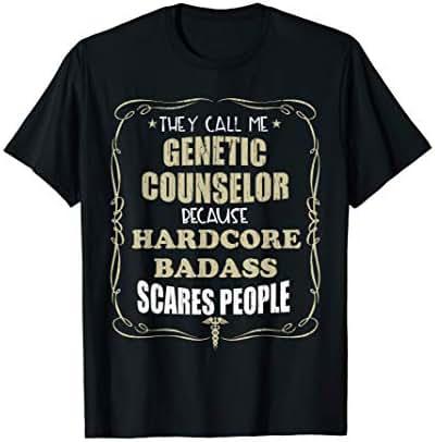 Genetic Counselor Hardcore Badass Gift T-Shirt