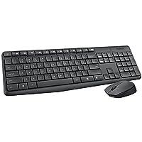 Combo Teclado e Mouse sem Fio MK235 com Teclas de Mídia de Fácil Acesso, Conexão por Nanoreceptor USB, Pilhas Inclusas e Layout ABNT2, Logitech, Teclados
