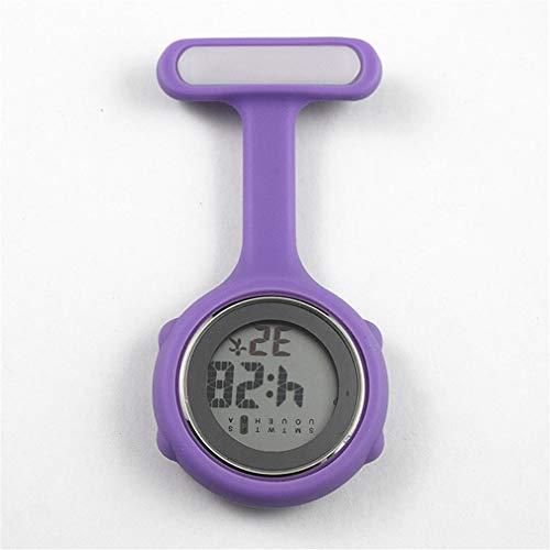 Digital Nurse Watch Fashion Silicone Medical Watches Lapel Doctor Brooch Pocket Watch LL@17 - 3d Optimus Silicone