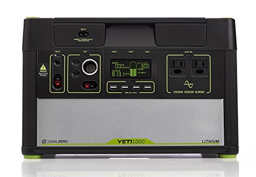 Goal Zero Yeti 1000 Lithium Portable Power Station, 1045Wh Silent Gas Free Generator Alternative With 1500W (3000W Surge) Inverter, 12V And USB Outputs (Certified Refurbished)