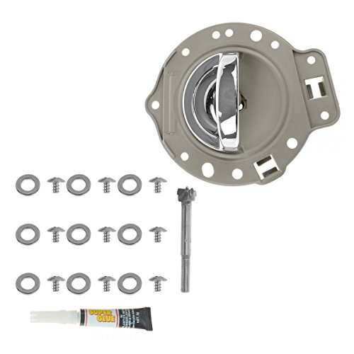 Chrome Front Bezel - Door Handle & Bezel Kit Khaki & Chrome Front or Rear Driver LH for Commander