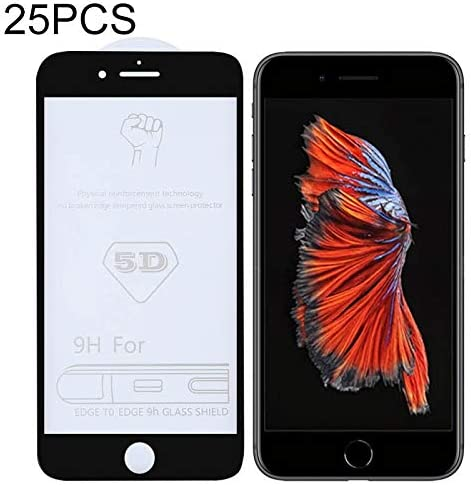 GzPuluz Glass Protector Film 25 PCS 9H 5D Full Glue Full Screen Tempered Glass Film for iPhone 6 Plus 6s Plus
