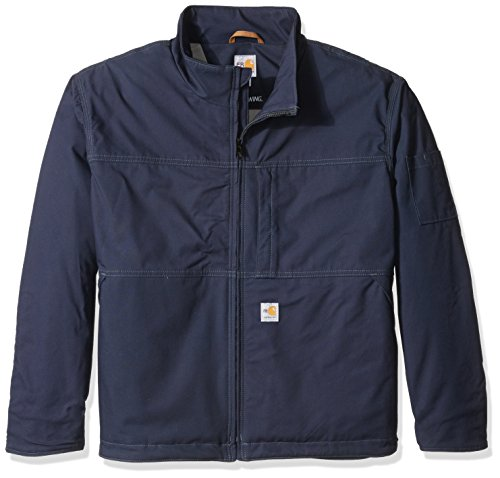 Carhartt Big and Tall Men's Big & Tall Flame Resistant Full Swing Quick Duck Jacket, Dark Navy, 4X-Large