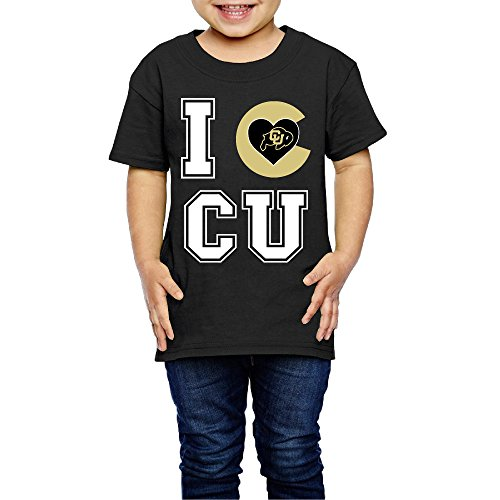 Price comparison product image PKTWO Kid's Love University Of Colorado Boulder Child Short T-shirt Tee