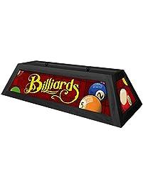 Classic Red Billiards Pool Table Light   Black