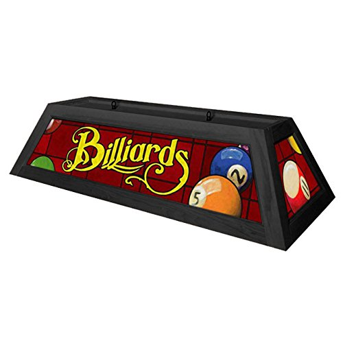 Classic Red Billiards Pool Table Light - Black