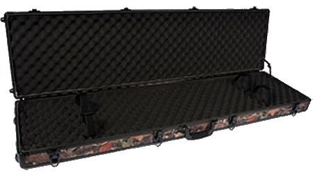 Aluminum Camo Gun Case - SportLock Cases AlumaLock Double Rifle/Shotgun Case with Wheels, Camo, Small