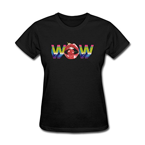 MINNRI Women's Beck Song Wow T-shirt Black XL