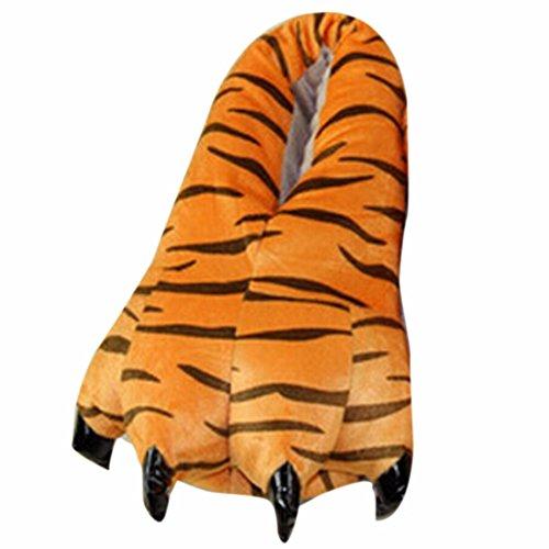 Adulto Suave Terciopelo Garra Animal De La Pata De Otono / Invierno Unisex Espesar Calido Zapato Zapatilla Tigger
