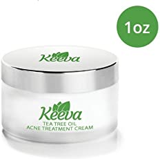 🔥7X FASTER Tea Tree Oil Acne Treatment by Keeva Organics, IMAGINE the Acne-Free Skin YOU Deserve in Just 3 Days, SHOP NOW and Get Rid of Bacne & Pimples (1oz)