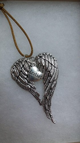 Brother Memorial Angel Wings Christmas Ornament In Memory Sympathy Bereavement Keepsake Gift