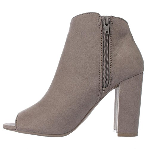 Materiaal Meisjes Womens Carena Stof Peep Toe Enkel Mode Laarzen Taupe
