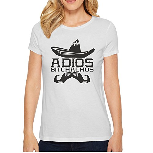 Adios Bitchachos12-01 Graphic T Shirts For Women's O-Neck Short Sleeve Cotton Girls Tshirts