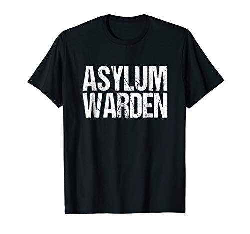 Warden Halloween Costume TShirt Asylum Inmate Guard -