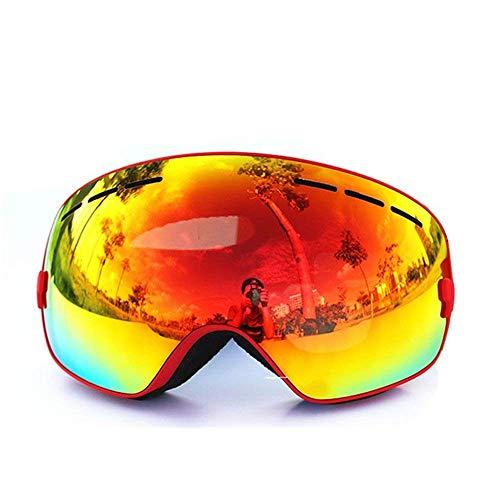 STOTOY 스키 고글 스노우 고글 더블 렌즈 스키 보드 고글 흐림금지 자외선 컷 마그네틱식 구면 등산/오토바이/스키/스포츠 남녀 겸용