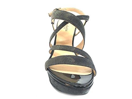17890 NERO Scarpa donna sandalo tacco Nero Giardini made in italy Ktfl7U