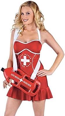 Fancy Me Ladies Sexy Lifeguard con dispensador de Bebidas gallina ...