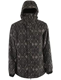 Rad Plaid Snowboard Jacket Gray Mens