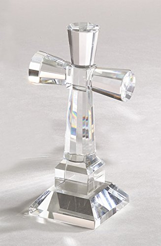 (Fennco Styles Crystal Standing Cross - 2 Sizes (Crystal Cross 6
