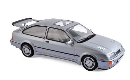 1986 Ford Sierra RS Gray Metallic 1/18 Diecast Model Car by Norev 182770