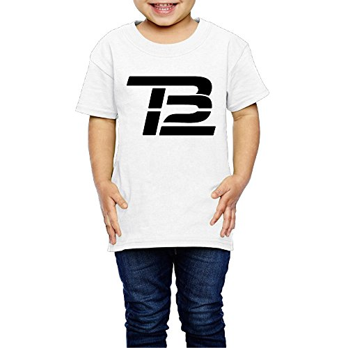 Ak79 Children 2 6 Years Old Boys And Girls Tom Tb Logo Brady T Shirt White Size 5 6 Toddler