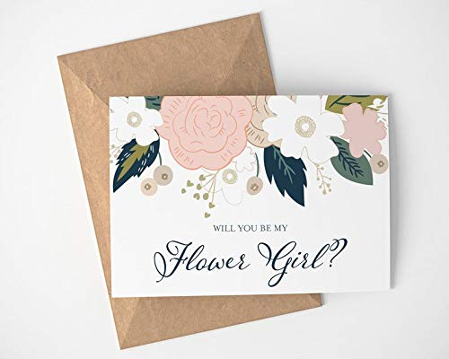 Will you be my Flower Girl? | Flower Girl Proposal - Wedding - Flower Girl - Flower Girl Card - Wedding Decor - Flowers - Wedding Party