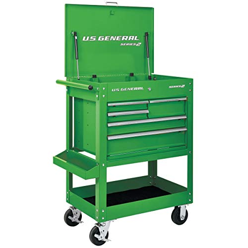 30 in. 5 Drawer Green Mechanic