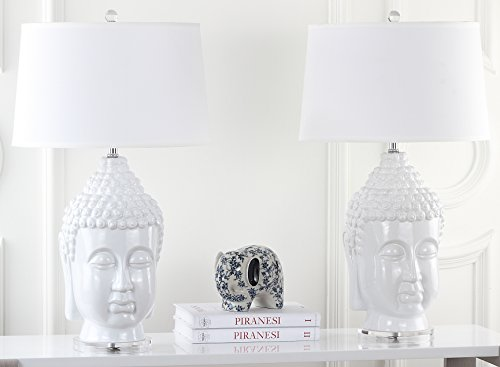 Safavieh Lighting Collection Serenity Buddha White 31-inch Table Lamp (Set of ()