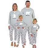Sleepyheads Holiday Family Matching Polar Bear Pajama PJ Sets - Kids - Grey Top (SHM-4038-K-5)