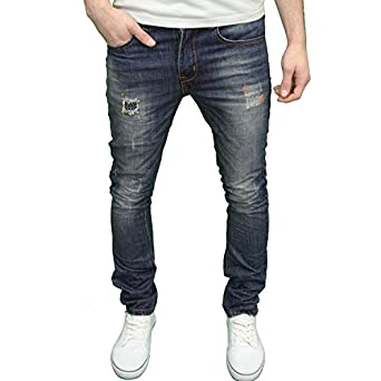 Soulstar Mens Designer Branded Stretch Slim Fit Ripped Jeans, BNWT ...
