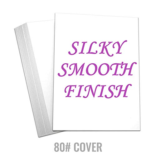 ock Thick Paper - Blank Silky Smooth 8 1/2 x 11