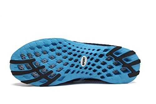 Quicksilk Frauen schnell trocknende Mesh Slip auf Wasser Schuhe Dunkelblau