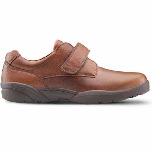 Dr. Confort William Hommes Thérapeutique Diabétique Extra Profondeur Chaussure Cuir Velcro - Noir -9.5 Moyen (b / D) Velcro Noir Us