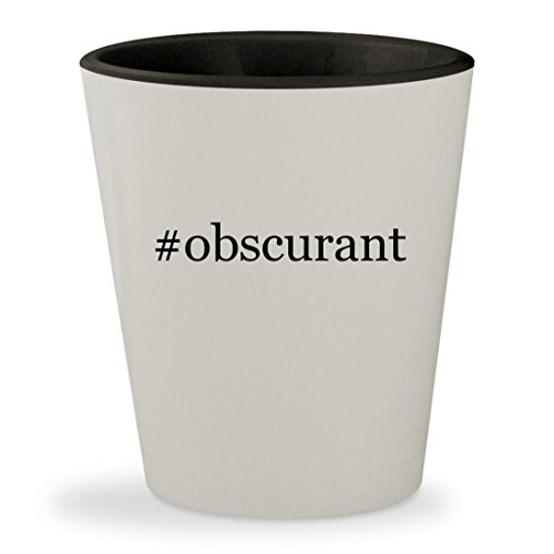 Price comparison product image #obscurant - Hashtag White Outer & Black Inner Ceramic 1.5oz Shot Glass