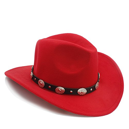 Vintage Womem Men Western Cowboy Hat With Wide Brim Punk Belt Cowgirl Jazz Cap With Leather Toca Sombrero Cap 23 -