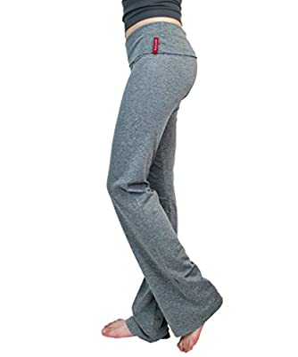 New Yoga Athletic Foldover Stretch Comfy Lounge Flare Fit Pants Tredns SNJ